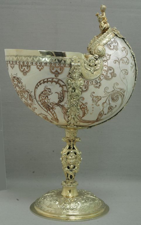 German, Augsburg    Nautilus-Shell Cup, c. 1600/1700 (19th-century mounts)    Nautilus-shell cup and silver gilt- Art Institute of Chicago