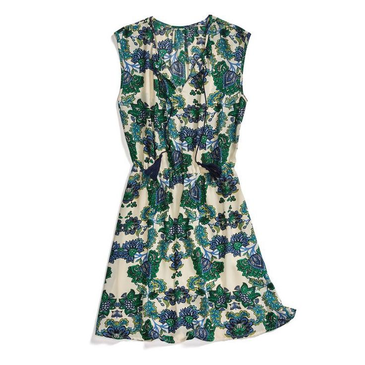 **** Green and blue floral print dress. So pretty! Stitch Fix Fall, Stitch Fix Spring Stitch Fix Summer 2016 2017. Stitch Fix Fall Spring fashion. #StitchFix #Affiliate #StitchFixInfluencer