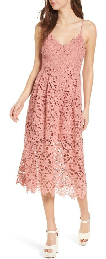 36d3c82278 lace midi dress by ASTR the Label. Sweet