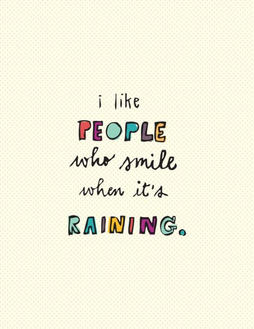 The boys love it when it rains and that makes me smile. They always see the joy even when it is a down pour...