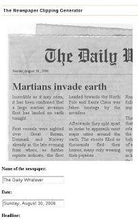 Pastel Flutuante: Gerador de noticia falsa em jornal