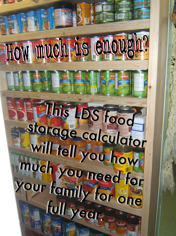 Great link to an LDS-style calculator that breaks it all down for you.. how much food do you need to store for your family for 1 year?  If you are storing food, you need to check this out!