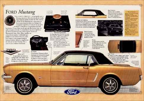 387 - FORD - Mustang - CARROS CLÁSSICOS - 41x29 cm. -