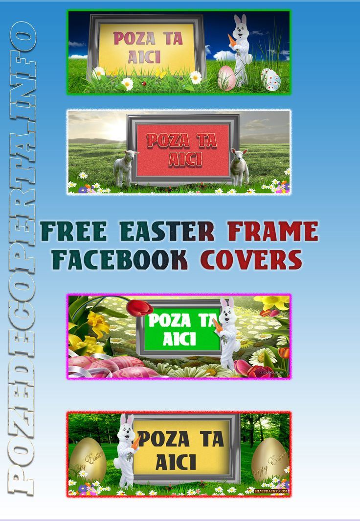 Free Easter frame facebook covers PNG