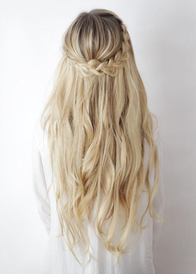 half-up boho braids /