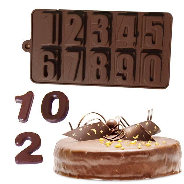 baking tools Number Cake Mold 10 Numbers Silicone Moldcandy cakes tool chocolate,cupcake
