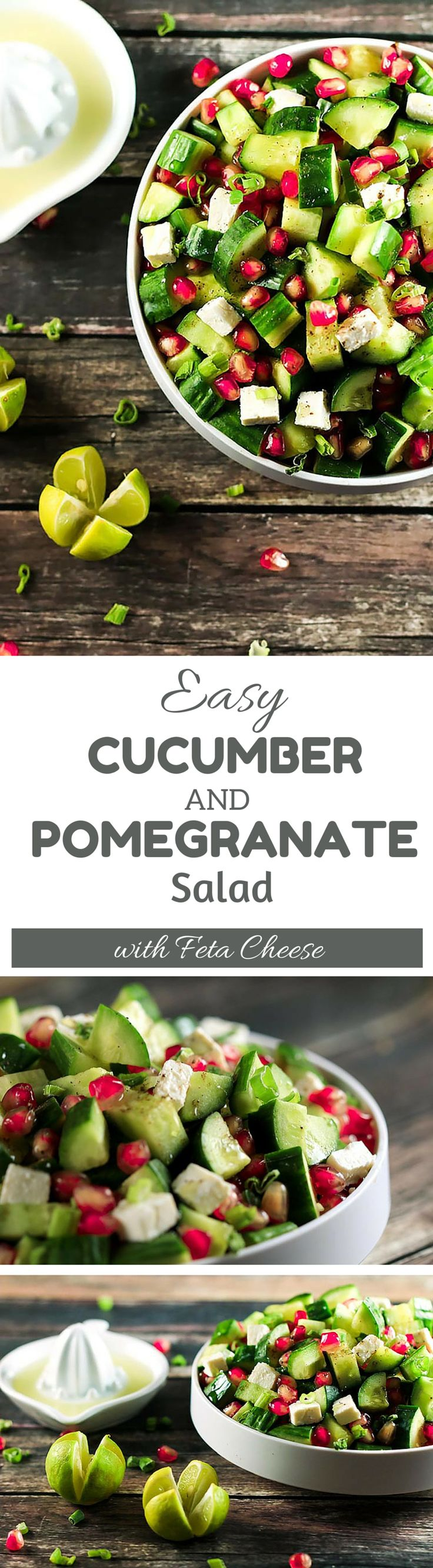 The combination of flavors in this recipe will have you addicted! The contrast between the pomegranate and feta cheese is beautiful - and the cucumbers go so well! ScrambledChefs.com