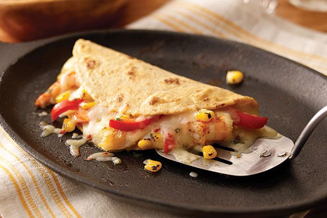 What's the best flavor combination? After trying these shrimp quesadillas, you'll think it's cilantro, lime, chili and pepper jack cheese. We won't argue.