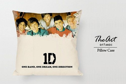 """One Direction Band - Custom Square 18""""x18"""" One Side Pillow Case"""