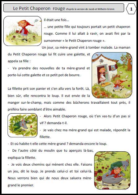 Le Petit Chaperon Rouge CP / Ce1 - l'école de Lilai