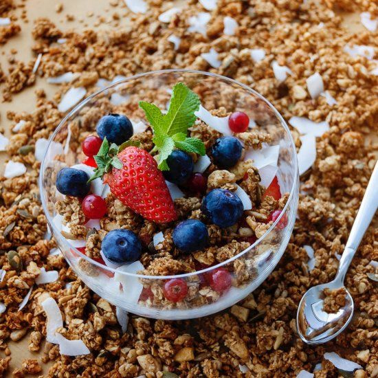 Keto Granola takes a little effort in terms of toasting the nuts but well worth …
