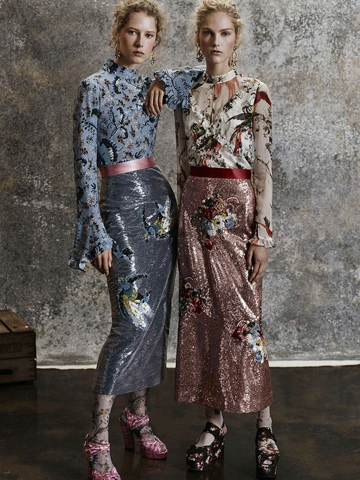 "PRE-FALL 2017 Erdem Vogue.com ""I've been thinking about the '40s as seen through the '70s,"" he said, while pointing out a scrapbook inspiration board that included stills of Bugsy Malone and Bertolucci's The Conformist, and a photo of the young Paloma Picasso wearing vintage glam, circa 1970."