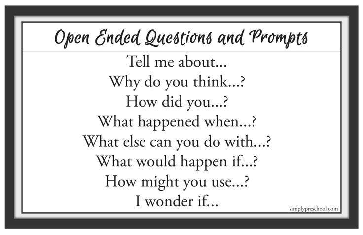 PreschoolOpenEndedQuestions