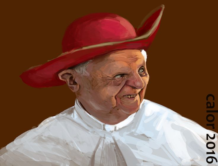 3 hours painting of Pope Benedict XVI