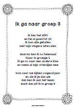 Wat zijn de kinderen van groep 2 altijd trots als ze kleuter-af zijn en naar groep 3 gaan. Ik heb een gedichtje gemaakt dat je ze kunt leren en mee kunt geven als afscheidscadeau.