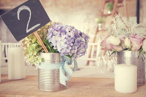 oh!myWedding: Decoración original con latas / Tin Can Decor Wedding