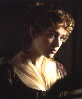 Hair - this kind of height and size of arrangement at the back - not such tight curls though?? Sense and Sensibility: Kate Winslet as Marianne Dashwood
