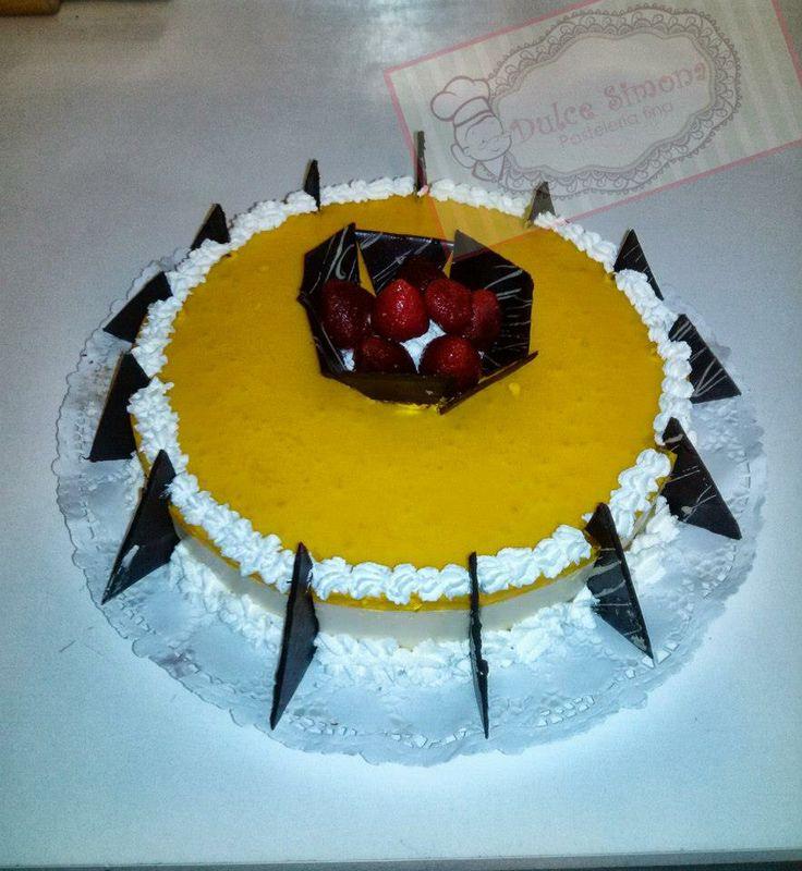 Torta de yogurt Durazno.