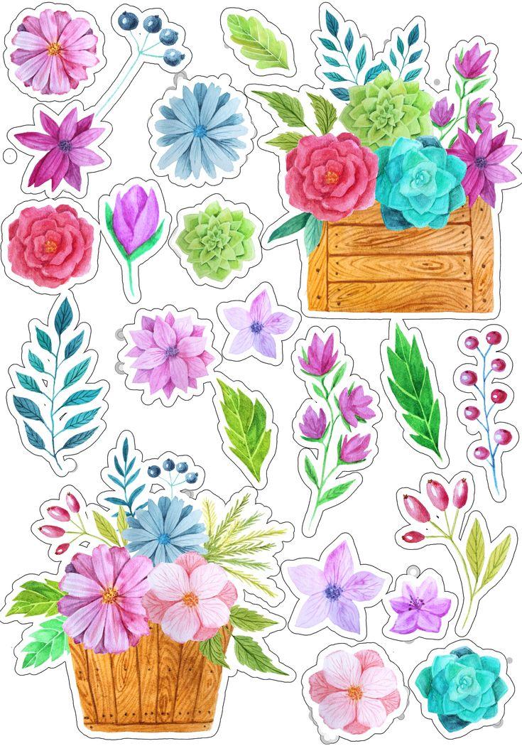что арты с цветами в виде наклеек пообещал, что