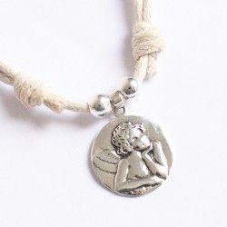 Regalo Comunión Collar de plata con ángel