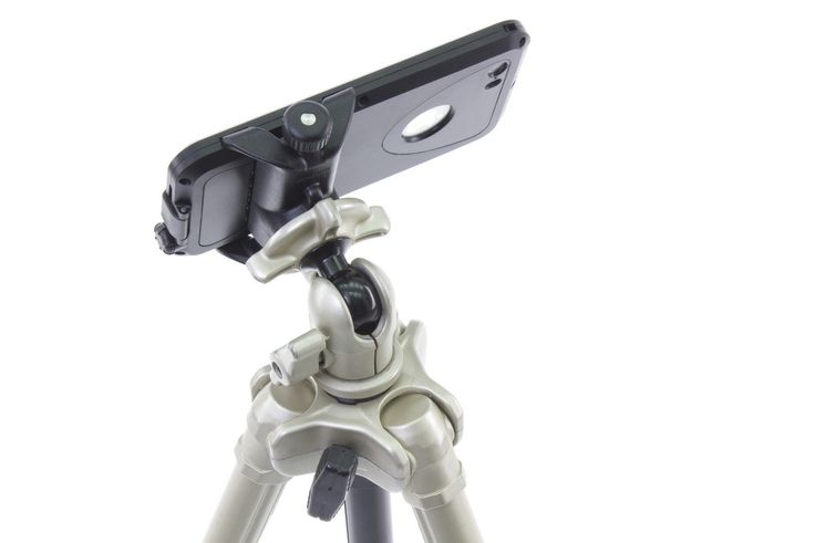 The BioLogic AnchorPoint bar mount can be attached to standard camera tripods for use as a camera holder. http://www.thinkbiologic.com/products/anchorpoint-bar-mount