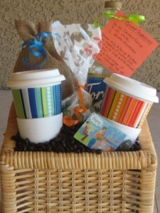 For the coffee lover- gift basket