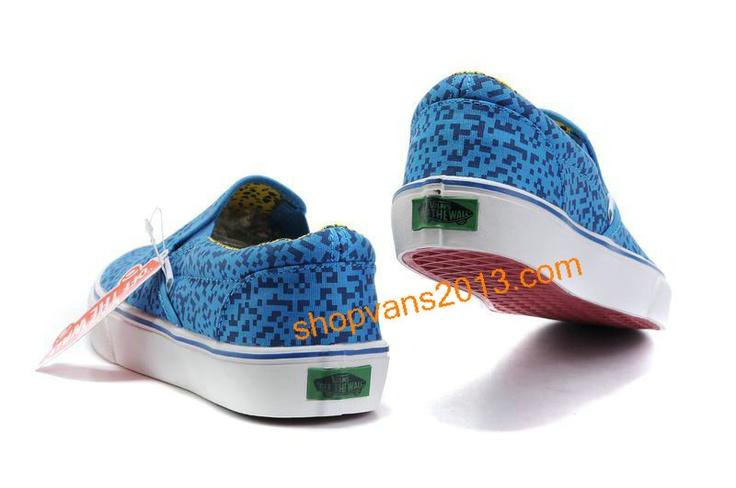 Vans Classics Magic Cube Slip-On Blue White [Cheap Vans Shoes 283] - $45.89 : Cheap Vans Shoes Outlet Store: Cheap Vans For Sale Online.