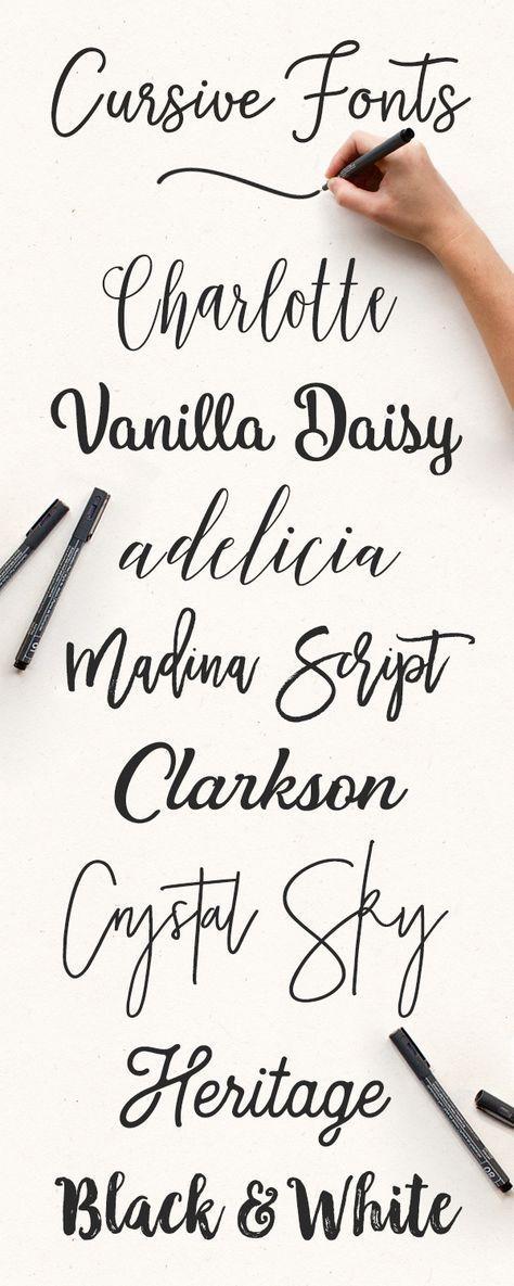 Best 25+ Cursive fonts ideas on Pinterest | Pretty cursive fonts ...