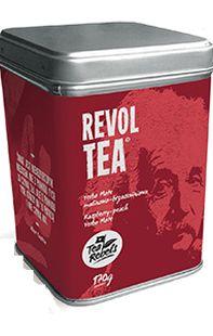 Tea Rebels' RevolTea yerba mate tea tin with picture of Albert Einstein on the label, 2016, Poland