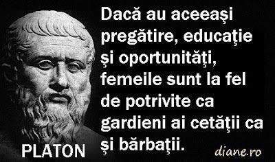 diane.ro: Platon şi Aristotel despre femei