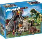 5230 PLAYMOBIL® Dino Vulkāns ar tiranozauru, no 4 gadiem