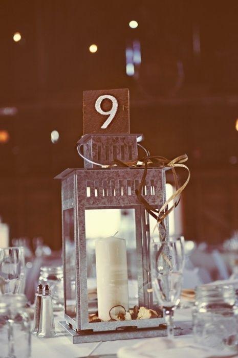 silver ikea lantern centerpiece idea goin to the chapel