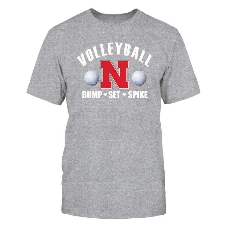 University Nebraska Womens Volleyball Shirt- Bump, Set, Spike T-Shirt, _University Nebraska Women's Volleyball _  Bump, Set, Spike Witness some of the best women's college volleyball in the country with the Nebraska Lady Huskers Volleyball team. Husker volleyball is almost fanatical in Big Red country with good reason. The Lady Huskers rule the floor when it comes... The Nebraska Cornhuskers Collection, OFFICIAL MERCHANDISE  Available Products:          Gildan Unisex T-Shirt - $25.95…
