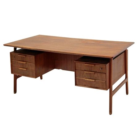 Teak Desk, Model 75 by Gunni Omann, 1960