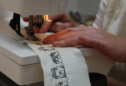 Free machine embroidery with Author and Fabric Designer Janet Clare | Guthrie & Ghani