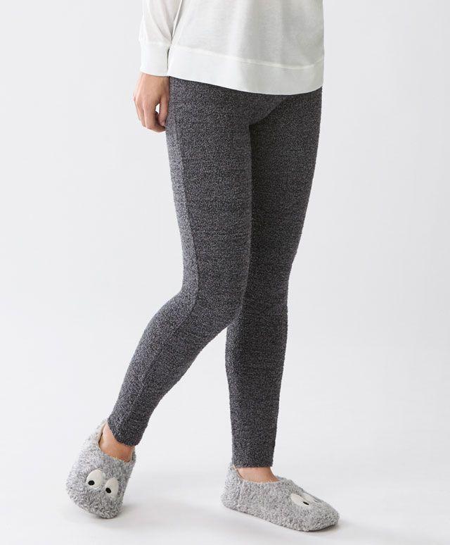 Legging fluffy gris anthracite - Bas - Dernières tendances Automne Hiver 2016 en mode femme chez OYSHO online : lingerie, vêtements de sport, pyjamas, bain, maillots de bain, bodies, robe de chambre, accessoires et chaussures.