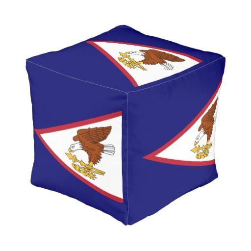American Samoa Island cube pouf