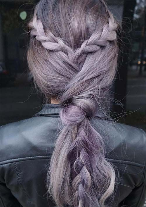 100 Ridiculously Awesome Braided Hairstyles: Braid Knotted Ponytail                                                                                                                                                                                 More