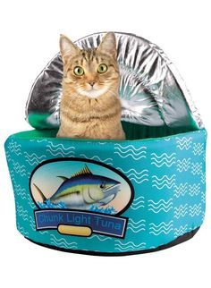Tuna Can Cat Bed - CAT BED - Cat Cuddle Bed - Fun Cat Bed - Pet Supplies #CatBed