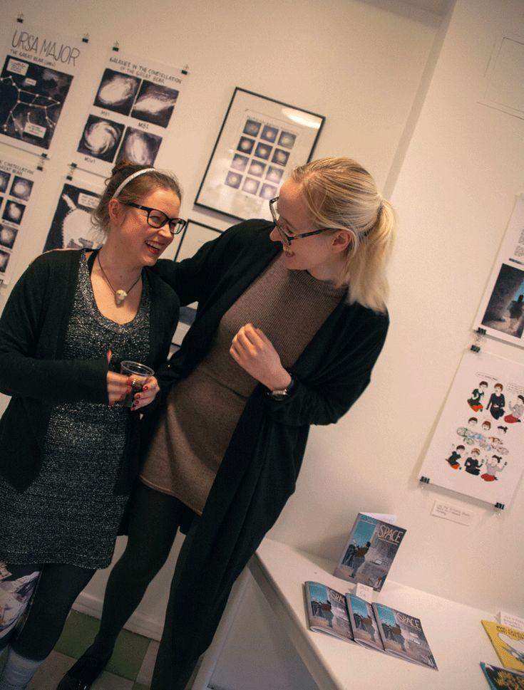 Taidetta, tiedettä ja avaruus (Random Walk Comics in Helsinki Comics Centre)