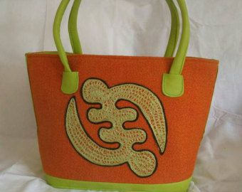 Adinkra Large Tote by ElocuenteCollections on Etsy