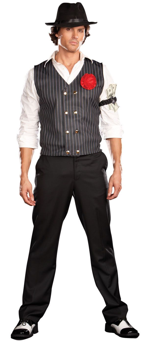sexy gangster costume men you are here home history world culture costumes 1920 s costumes - Classic Mens Halloween Costumes