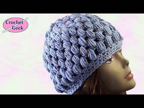 How to make a Crochet Puff Stitch Hat
