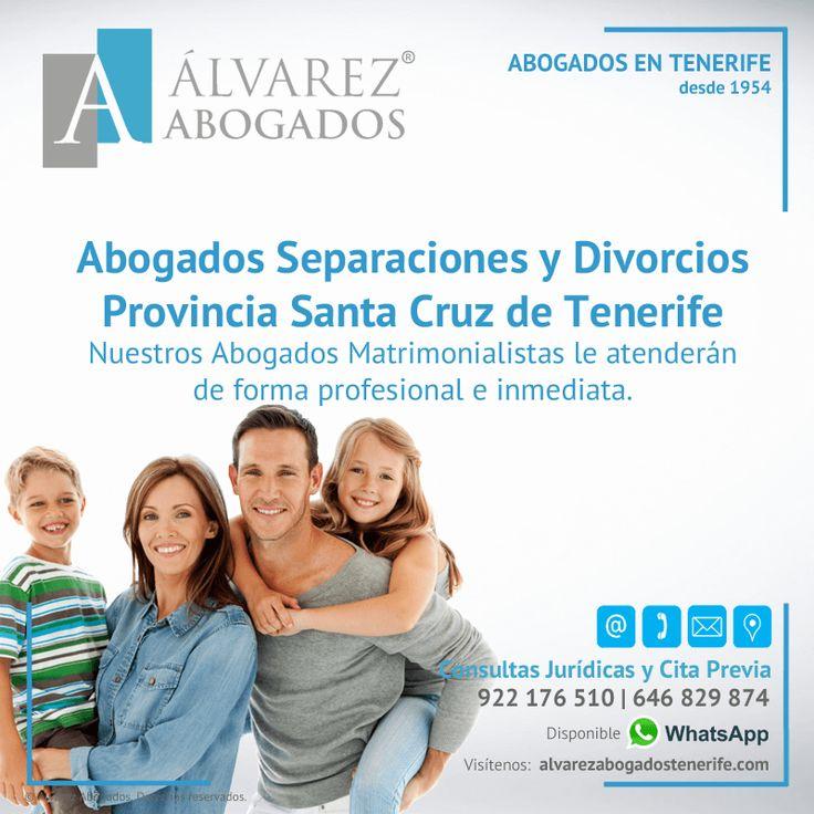 Abogados Separaciones y Divorcios en la Provincia de Santa Cruz de Tenerife. Nuestros Abogados Matrimonialistas le atenderán de forma profesional e inmediata. https://alvarezabogadostenerife.com/?p=13084