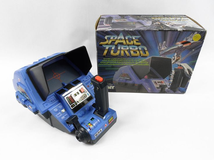 Vintage Tabletop 1985 Mechanical Space Turbo Game by TOMY, Boxed