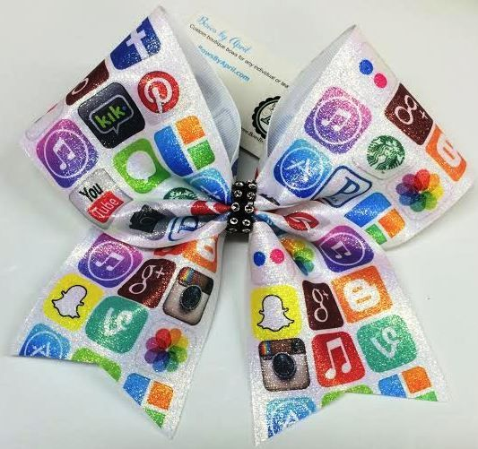 Bows by April - Apps Glitter Cheer Bow, $18.00 (http://www.bowsbyapril.com/apps-glitter-cheer-bow/)