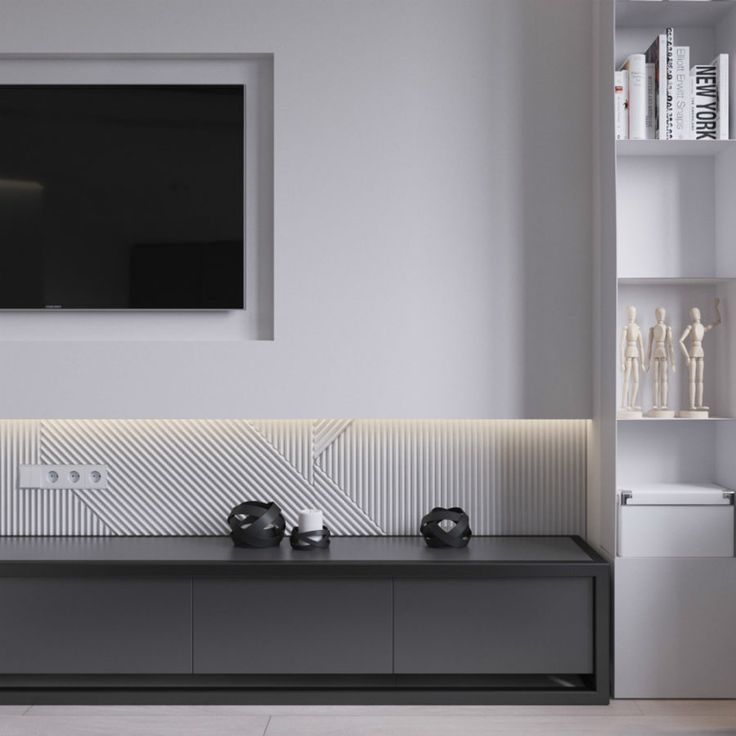 3 Modern Style Apartments Under 50 Square Meters Includes: Best 25+ Tv Wall Design Ideas On Pinterest