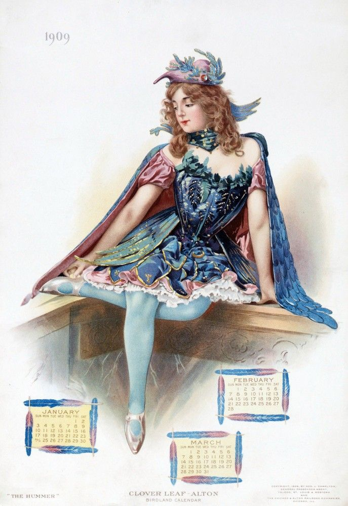 The 1909 Birdland Calendar Issued To Advertise Clover Leaf Railroad Route Is One Of Many Chromolithograph Advertisements Held By N YHS
