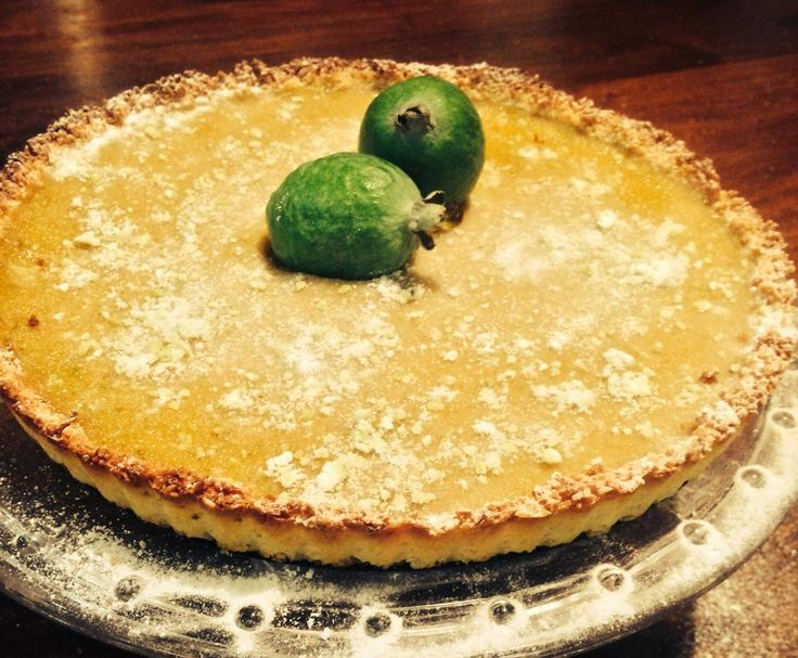 Recipe Feijoa and Lime Curd Tart with a Coconut crust by HayleyW74 - Recipe of category Desserts & sweets