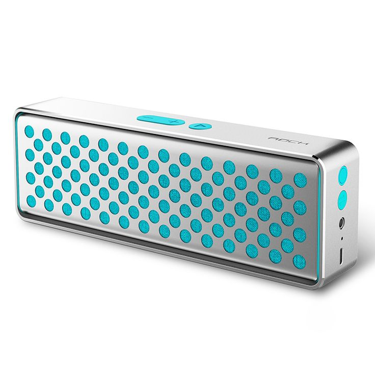 ROCK Mubox Wireless Bluetooth Speaker with Mic Support NFC and AUX Input - Blue